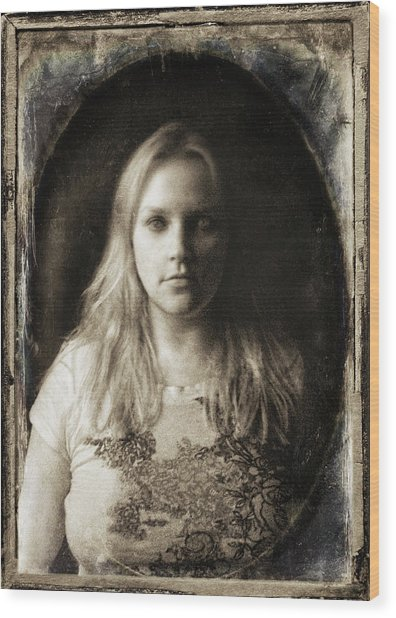 Vintage Tintype Ir Self-portrait Wood Print