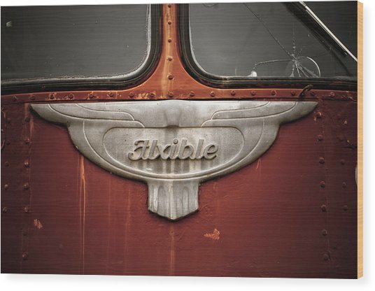 Vintage Tour Bus Wood Print