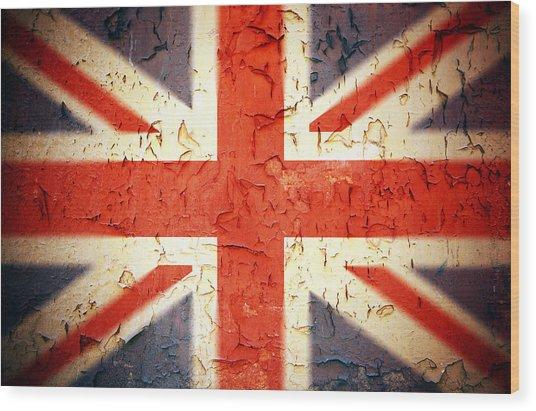 Vintage Union Jack Wood Print