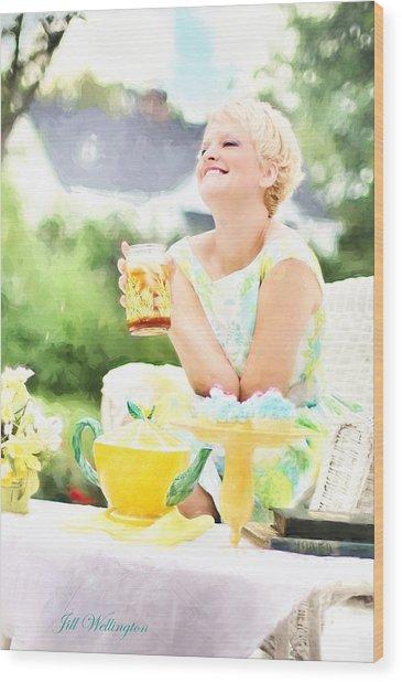 Vintage Val Iced Tea Time Wood Print