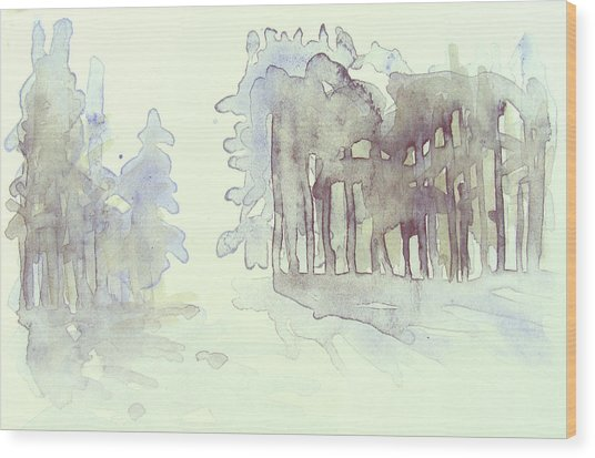 Vintrig Skogsglanta, A Wintry Glade In The Woods 2,83 Mb_0047 Up To 60 X 40 Cm Wood Print