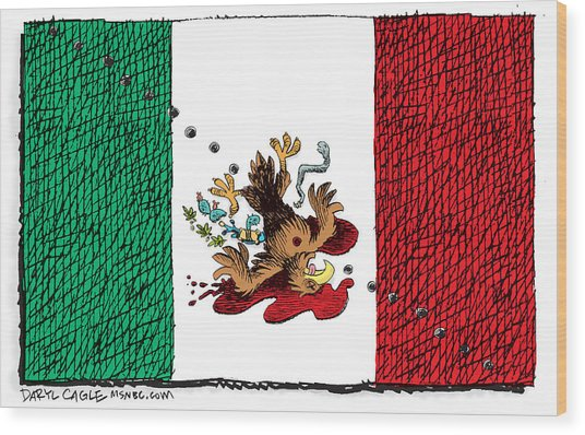 Violence In Mexico Wood Print