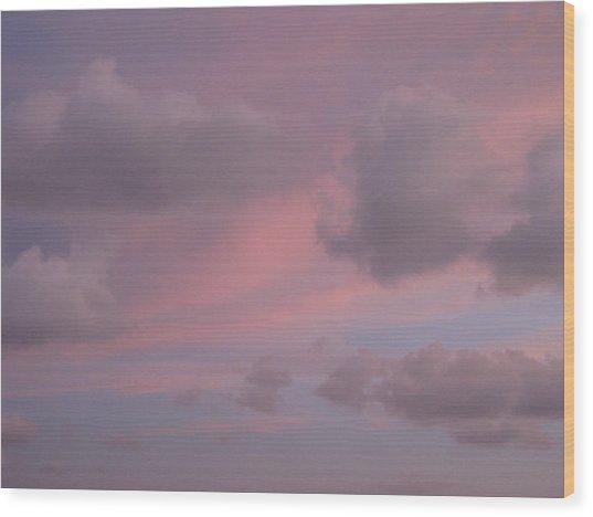 Violet Cloud Formation 1 Wood Print
