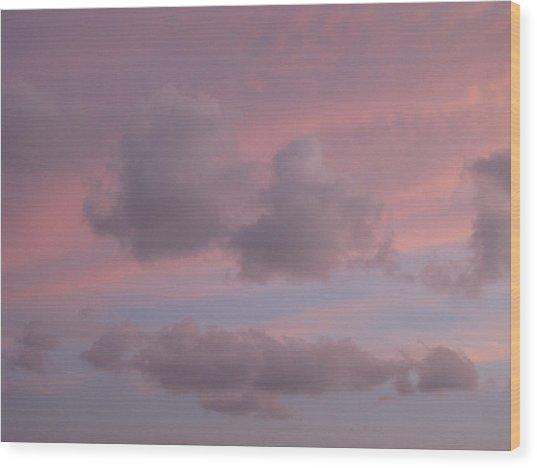 Violet Cloud Formation 2 Wood Print