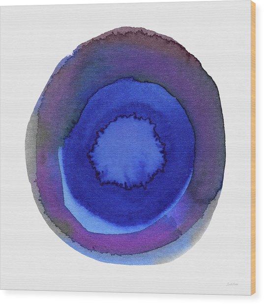 Violet Drops 1- Art By Linda Woods Wood Print