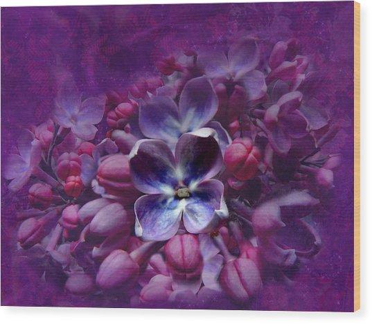 Violet Lilac Wood Print