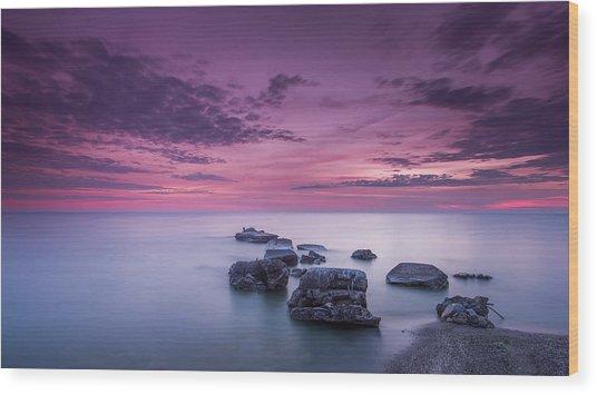 Violet Skies Wood Print