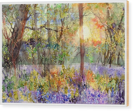 Violet Sunrise Wood Print