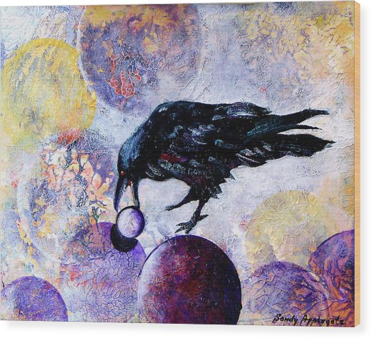Violet-velvet Lining Wood Print by Sandy Applegate