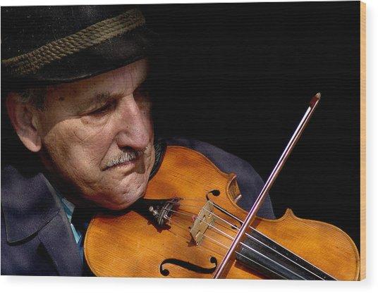 Violin Player Wood Print by Todd Fox