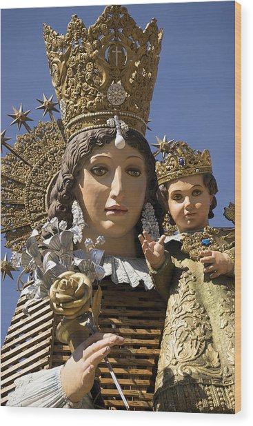Virgen De Los Desamparados Wood Print