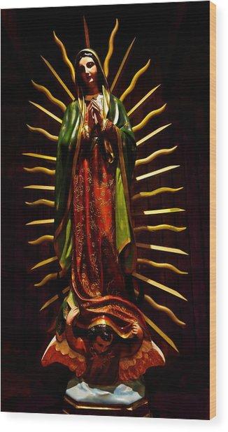 Virgin Of Guadalupe Wood Print