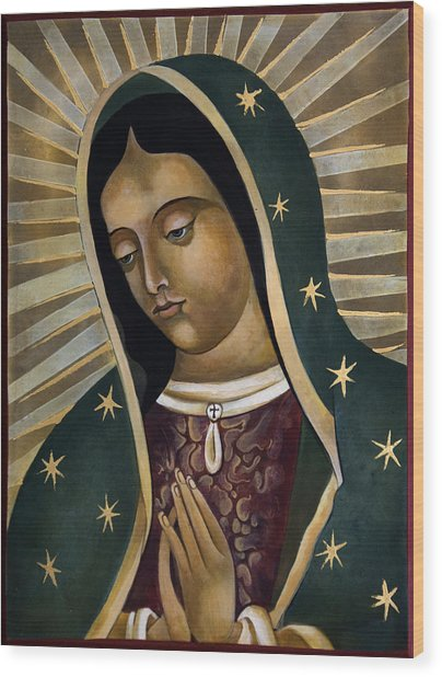 Virgin Of Guadelupe Wood Print