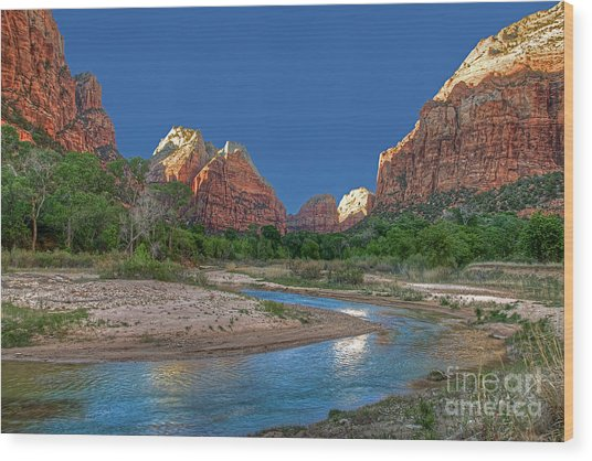 Virgin River Bend Wood Print