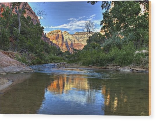Virgin River Wood Print