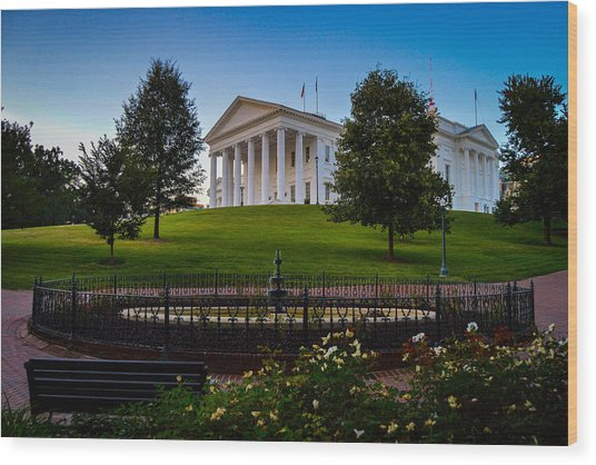 Virginia Capitol Building Wood Print