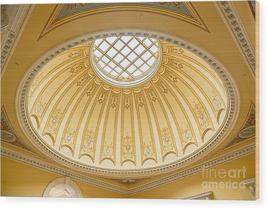 Virginia Capitol - Dome Profile Wood Print