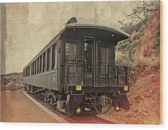Virginia City Pullman Car Wood Print