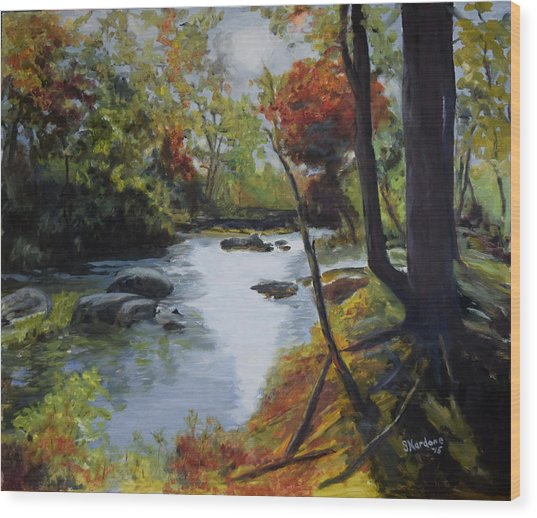 Virginia Lovely Stream Wood Print
