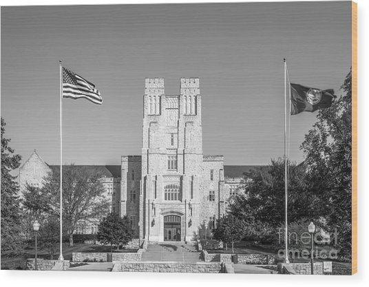 Virginia Tech Burress Hall Wood Print