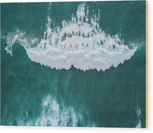 Big Wave, Tenerife, Canary Islands Wood Print