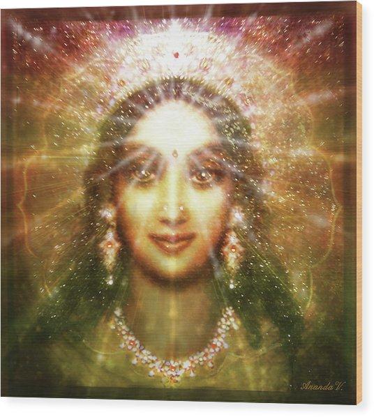 Vision Of The Goddess - Light Wood Print