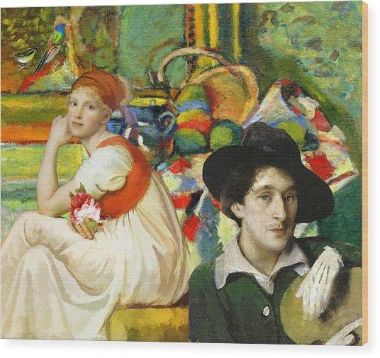 Visiting Matisse Wood Print