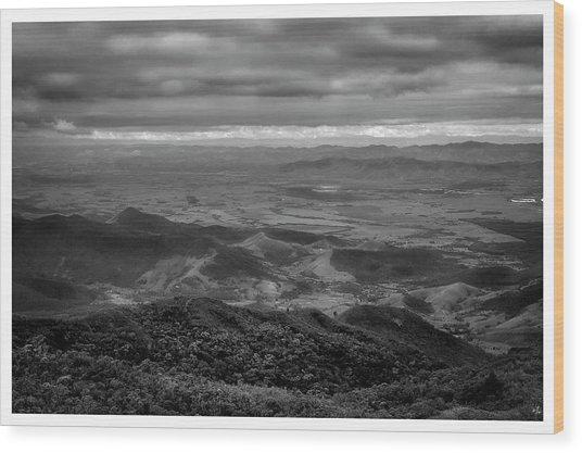 Vista Do Mirante-pico Do Itapeva-pindamonhangaba-sp Wood Print