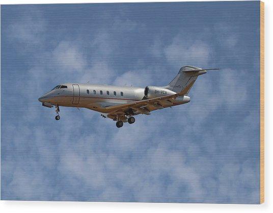Vista Jet Bombardier Challenger 300 1 Wood Print