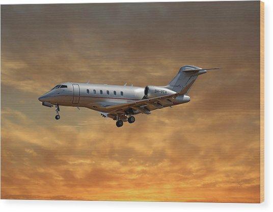 Vista Jet Bombardier Challenger 300 2 Wood Print