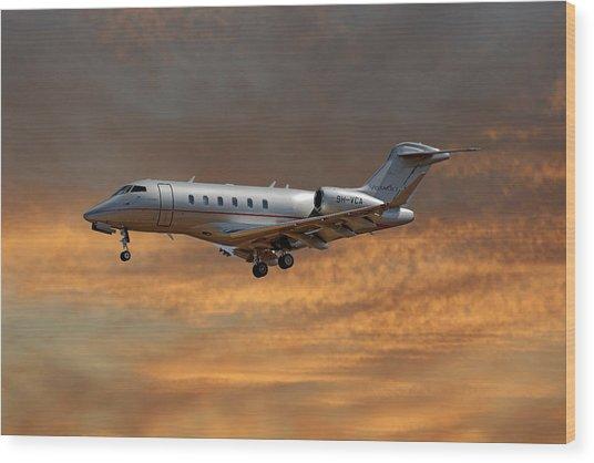 Vista Jet Bombardier Challenger 300 3 Wood Print