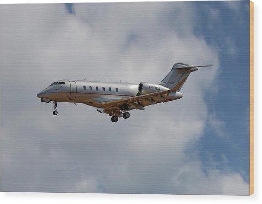 Vista Jet Bombardier Challenger 300 5 Wood Print