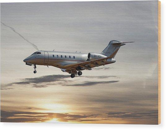 Vista Jet Bombardier Challenger 300 Wood Print