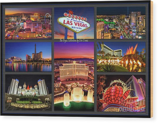 Viva Las Vegas Collection Wood Print
