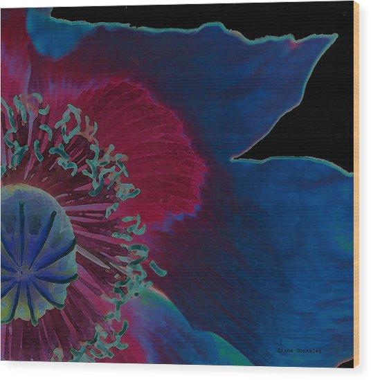 Vivid Wood Print by Diana Gonzalez