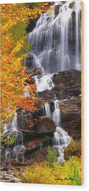 Vivid Falls Wood Print