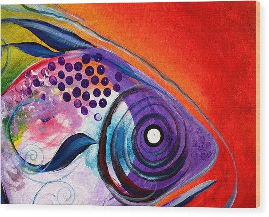 Vivid Fish Wood Print