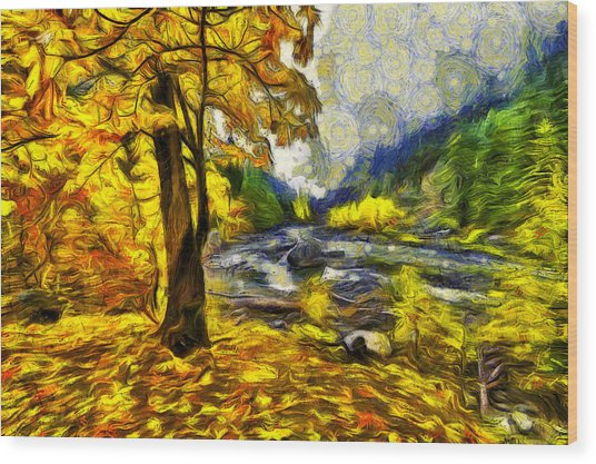 Vivid Pipeline Trail Wood Print