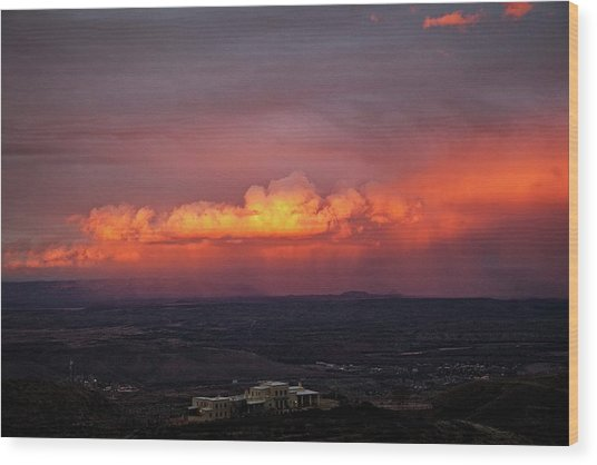 Vivid Verde Valley Sunset Wood Print