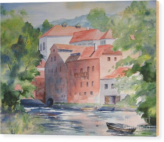 Vlatava Mill Wood Print
