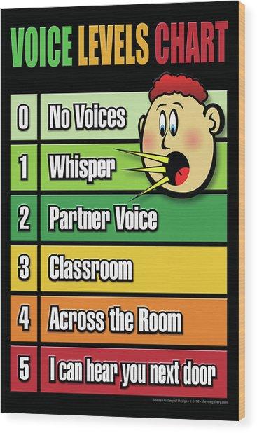 Voice Level Poster -1 Wood Print by Shevon Johnson