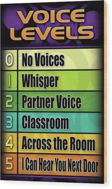 Voice Levels - 2 Wood Print