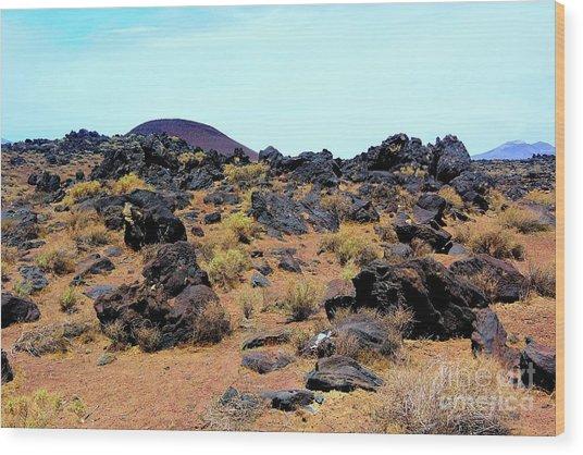 Volcanic Field Wood Print