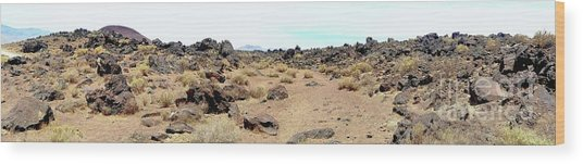 Volcanic Field Panorama Wood Print