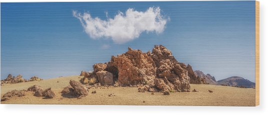 Wood Print featuring the photograph Volcanic Rocks by James Billings