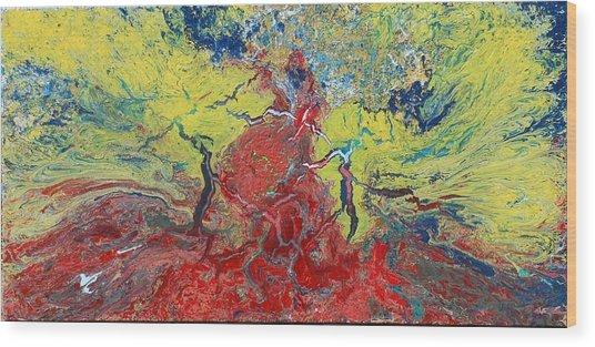 Volcanic Sunrise Wood Print