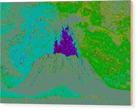 Volcano D4 Wood Print by Modified Image