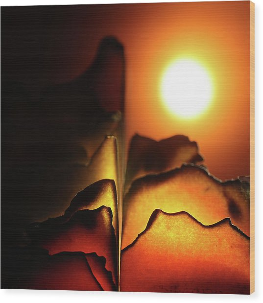 Volcanoes Wood Print