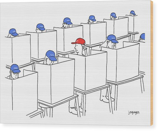 Voting In The 2017 Election Wood Print by Jeremy Nguyen