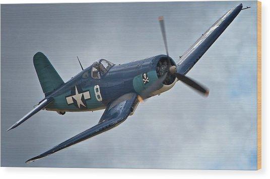 Vought F4u Corsair 2011 Chino Air Show Wood Print